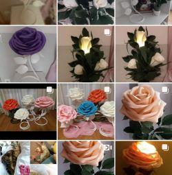 Floor lamps, lamps, interior flowers