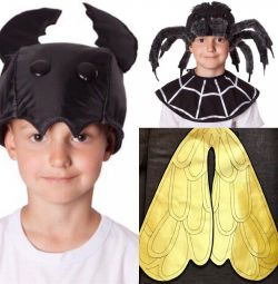 Carnival costumes: Fly-Tsokotuha / Beetle / Spider