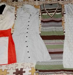 Dresses are new and brown. 40-42