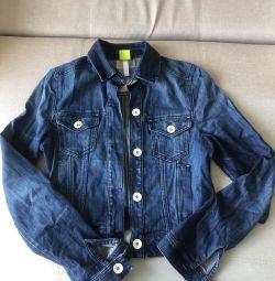 Jacheta din denim Adidas