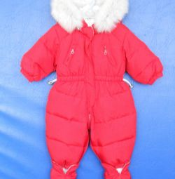 Jumpsuit ζεστό ντυμένο σε ύψος 63-68 cm