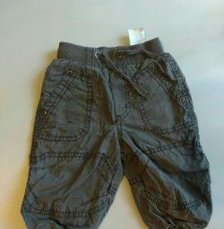 Детские утеплeнные штаны (62см)