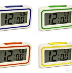 Talking thermometer with alarm clock
