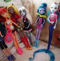 Monster High dolls. Original. Collection