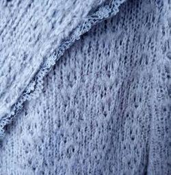 a wool jacket