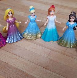 8 принцесс(Куклы)Платя прищепки можно менять!