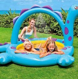 Children's pool Dinosaur, 229х165х107 cm, 57437