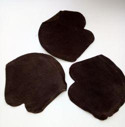 Πτερύγια και σόκοκ από γνήσιο δέρμα, για κεντήματα