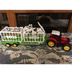 Hayvanlar ile traktör