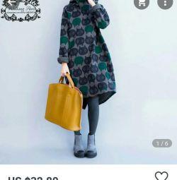 Warm tunic dress