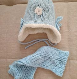 hat + scarf for girls