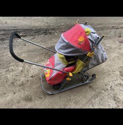 Sled stroller Nika