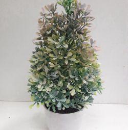 Flori artificiale, tufiș într-o oală