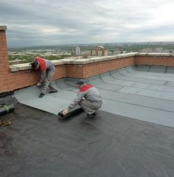 Roofing, installation of roof repairs.