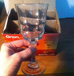 A new set of wine glasses