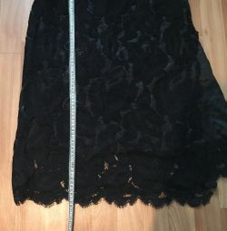Skirt with lace