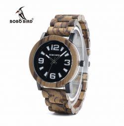 ⌚Man wrist watches made of wood. Zebra Wood