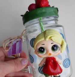 Jar with urvshkoy for drinks