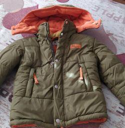 winter jacket on fleece