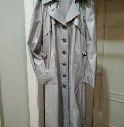 The raincoat is new. GREENSTONE