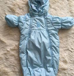 Envelope-jumpsuit for a boy -62 cm