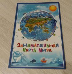 Карта світу з магнітними пазлами