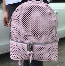 Yeni yumuşak pembe sırt çantası Michael Kors Michael Kors