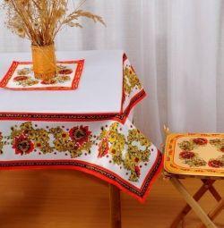 Față de masă cu imprimare foto 140 * 140
