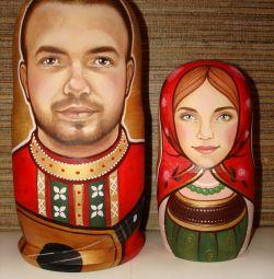 Matryoshka dolls.