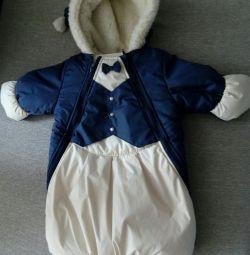 Children's winter overalls envelope