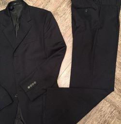 Костюм чоловічий чeрний + краватки