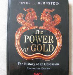 Cartea despre istoria aurului este în engleză.