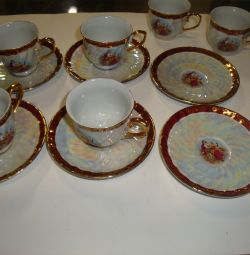 coffee set japan 6 persons new