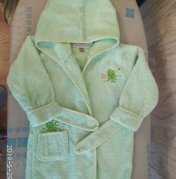 Terry dressing gown p. 6-12 months