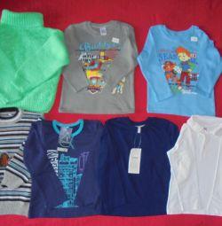 Лонгсліви, поло, футболки, светри на 104-110см