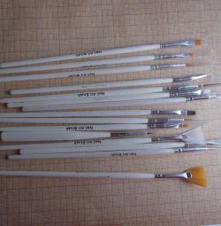 manicure brushes set.