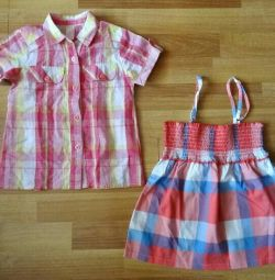 Summer things for girls, body height 110-116