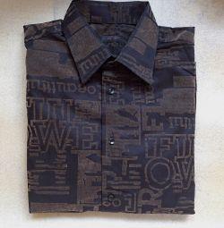 Рубашка Турция черная 48-50 хлопок