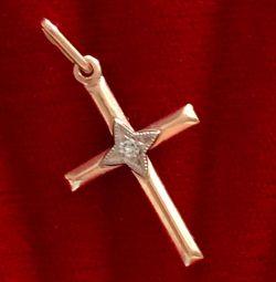 Χρυσό σταυρό με διαμάντι