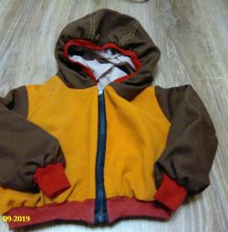 set, (jacket with zipper and trousers on cuffs)