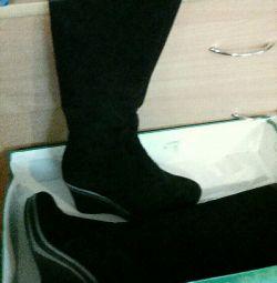 Σουέντ γυναικείες μπότες