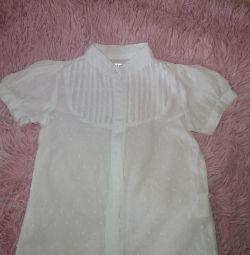 Рубашка-блузка б.у. р 98-104