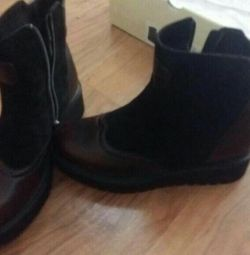 Leather Boots, New