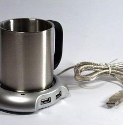 Suport încălzitor USB pentru cană + cană