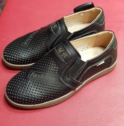 Shoes for the boy on the second footwear