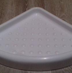 Угловая полочка для ванной