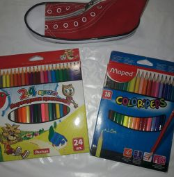 Pencils new 24 and 18 colors