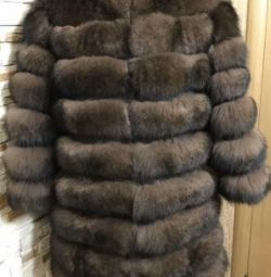 New fur coat Arctic fox under. Sablerazmeo 46-48.50 length