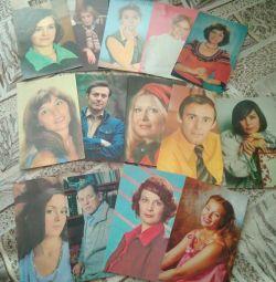 Листівки з фото актрис і акторів СРСР 30-80х