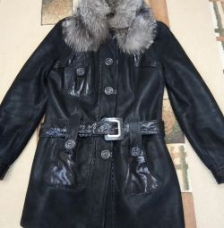 Natural sheepskin coat 46 sizes